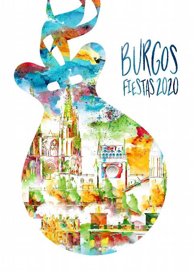 Cartel Fiestas Sampedros Burgos 2020
